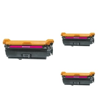 INSTEN Magenta Cartridge Set for HP CE253A (Pack of 3)