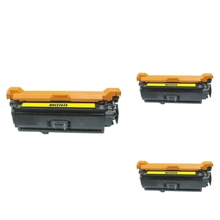INSTEN Yellow Cartridge Set for HP CE262A (Pack of 3)