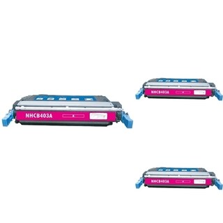 INSTEN Magenta Cartridge Set for HP CE403A (Pack of 3)