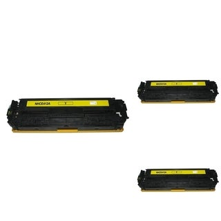 INSTEN Yellow Cartridge Set for HP CE412A (Pack of 3)