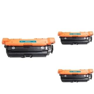 INSTEN Cyan Cartridge Set for HP CF031A (Pack of 3)