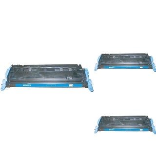 INSTEN Cyan Cartridge Set for HP Q6001A (Pack of 3)
