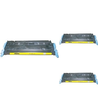INSTEN Yellow Cartridge Set for HP Q6002A (Pack of 3)