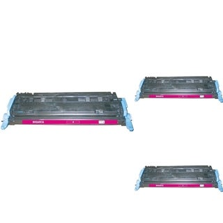 INSTEN Magenta Cartridge Set for HP Q6003A (Pack of 3)