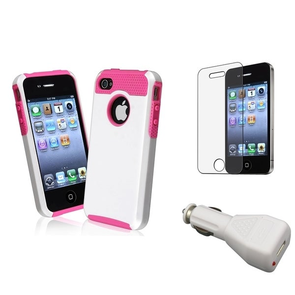BasAcc Case/ LCD Protector/ Car Charger Adapter for Apple iPhone 4/ 4S