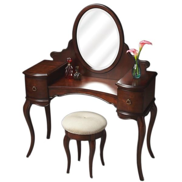 Rich Cherry Vanity/Dressing Table