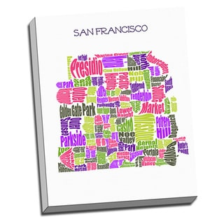 'San Francisco Typography Map' Wall Art