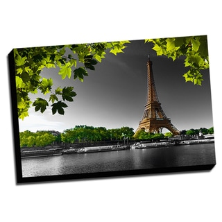 Mathieu rivrin 39 blue hour in front of the eiffel tower for Color splash wall art