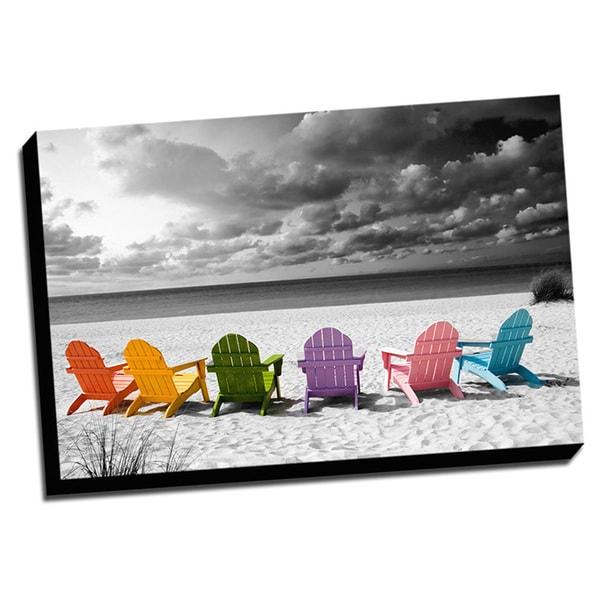 39 beach chairs color splash 39 wall art free shipping today for Color splash wall art
