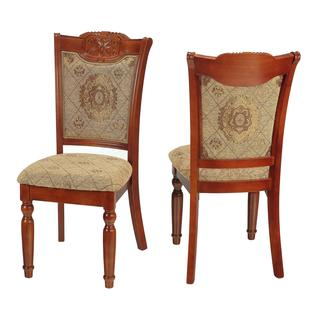 Cortesi Home Medalion Dining Traditional Chair (Set of 2)