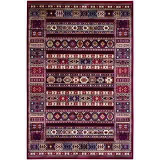 Cire Power-loomed Jerrico/ Ruby Area Rug (5'3 x 7'6)