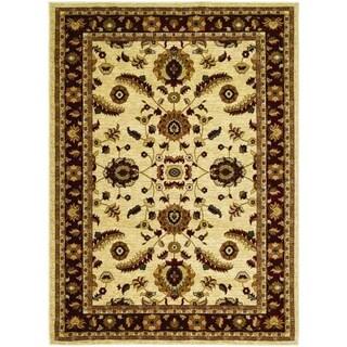 Couristan Anatolia Floral Heriz/ Cream-Red Area Rug - 3'11 x 5'6