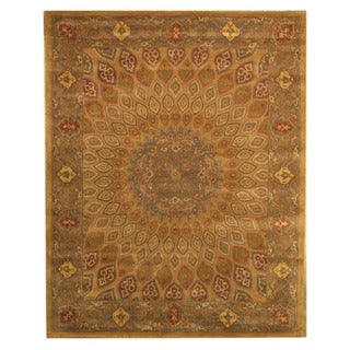 Hand-tufted Wool Gold Traditional Oriental Gombad Rug (9'6 x 13'6)