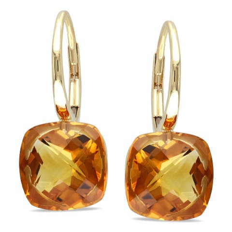 Miadora 14k Yellow Gold Citrine Earrings