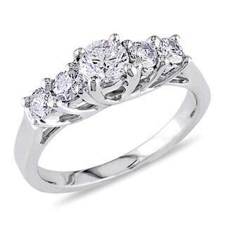 Miadora Signature Collection 14k White Gold 7/8ct TDW Diamond Engagement Ring