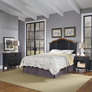 Home Styles The French Countryside Full/ Queen Headboard, Night Stand, and Chest