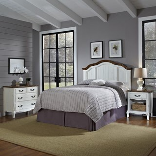 The French Countryside Full/ Queen Headboard, Night Stand, and Chest by Home Styles