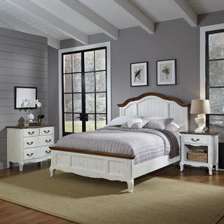 The French Countryside Queen Bed, Night Stand, and Chest by Home Styles