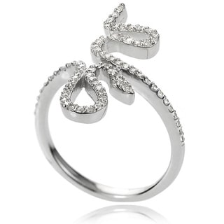Journee Collection Women's Sterling Silver Round-cut Cubic Zirconia Ring