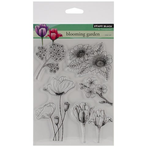 """Penny Black Clear Stamps 5""""X6.5"""" Sheet-Blooming Garden"""