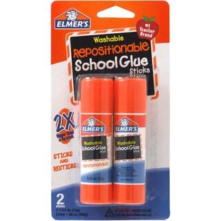 Elmer's Repositionable School Glue Sticks 2/Pkg .53oz