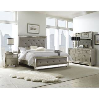 Celine 5-piece Mirrored and Upholstered Tufted Queen-size Bedroom Set|https://ak1.ostkcdn.com/images/products/8409729/P15709229.jpg?impolicy=medium