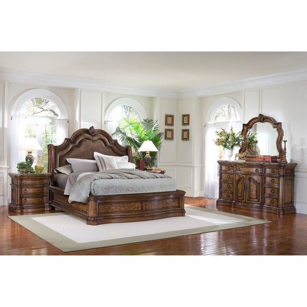 Montana 5 Piece Platform King Size Bedroom Set Free Shipping Today Overstock 15709242