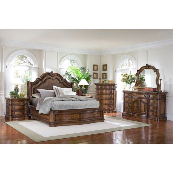 Montana 6 piece platform king size bedroom set free for Bedroom 6 piece set