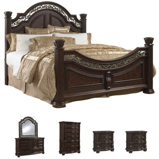 Tuscany 6-piece Mocha Finish Queen-size Bedroom Set