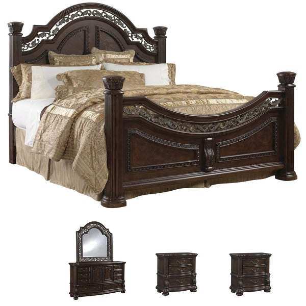 Tuscany 5 Piece Mocha Finish King Size Bedroom Set Free Shipping Today 15709254
