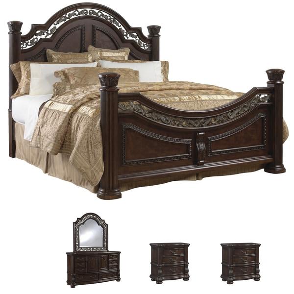 Tuscany Bedroom Furniture: Tuscany 5-piece Mocha Finish King-size Bedroom Set
