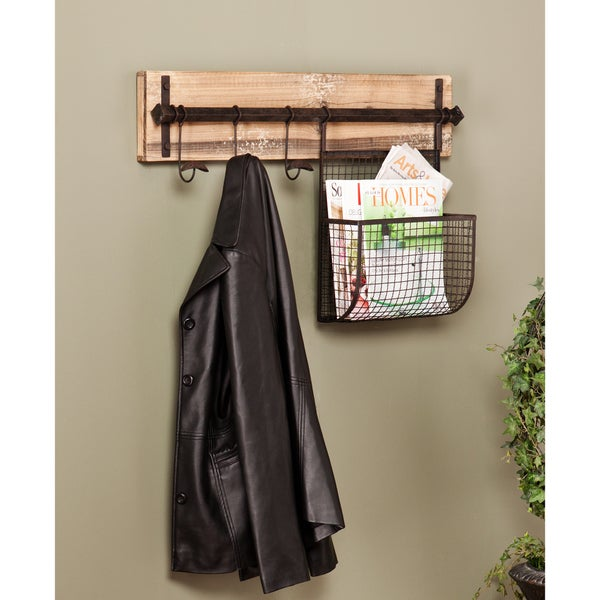 Harper Blvd Ashbury Entryway Wall Mount Coat Rack with Storage