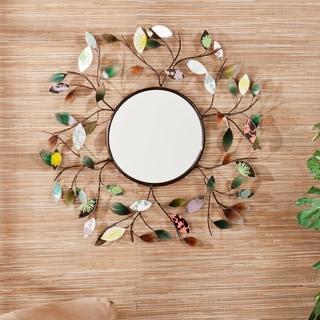 Harper Blvd Leah Decorative Metallic Leaf Wall Mirror - Thumbnail 0