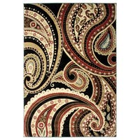Contemporay Paisley Multicolor Area Rug - 7'10 x 9'10
