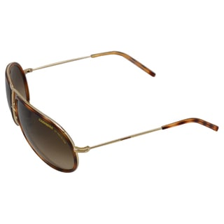 Carerra Unisex '15 XDXCC' Gold Dark Havana Metal Sunglasses