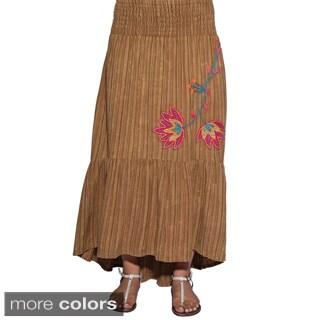 Uneven-cut Women's Boho Chic Cotton Skirt (Nepal)