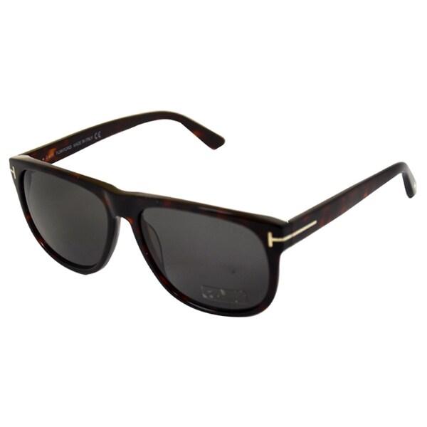e075d74c9af2 Shop Tom Ford Unisex  FT0236 S Olivier 54A  Dark Havana Sunglasses - Free  Shipping Today - Overstock.com - 8409931