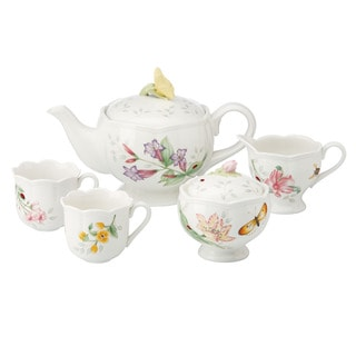 Shop Lenox Butterfly Meadow Mini Tea Set Free Shipping