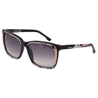 Diesel Women's 'DL0008' Black/ White Sunglasses