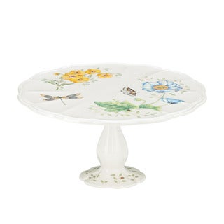 Lenox Butterfly Meadow Pedestal Cake Plate  sc 1 st  Overstock & Cake Plates Serving Platters \u0026 Trays For Less   Overstock
