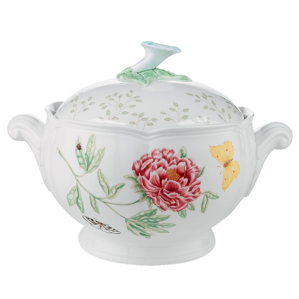 Shop Lenox Butterfly Meadow Covered Casserole Free