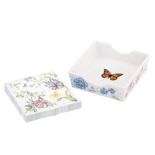Lenox Butterfly Meadow Napkin Box with Printed Napkins|https://ak1.ostkcdn.com/images/products/8410125/8410125/Lenox-Butterfly-Meadow-Napkin-Box-with-Printed-Napkins-P15709594.jpg?impolicy=medium