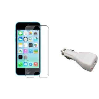 INSTEN Anti-glare LCD Protector/ Car Charger for Apple iPhone 5C