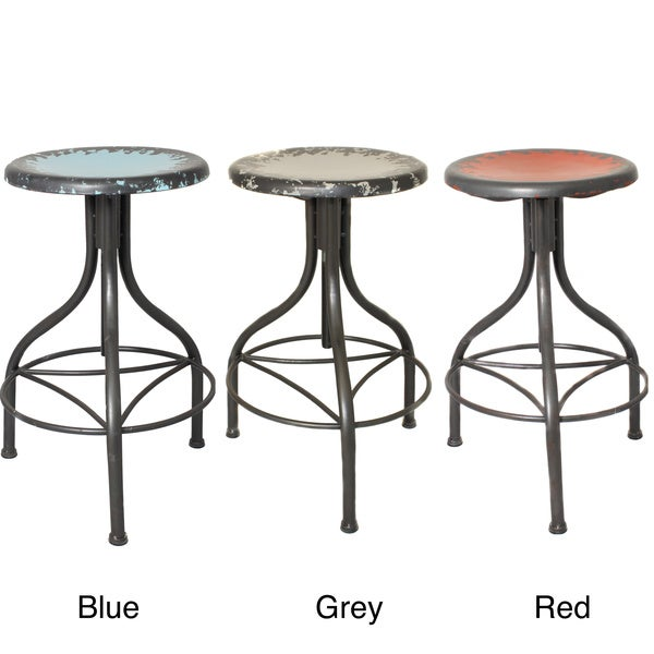Casa Cortes Vintage Adjustable Metal Bar Stool Free