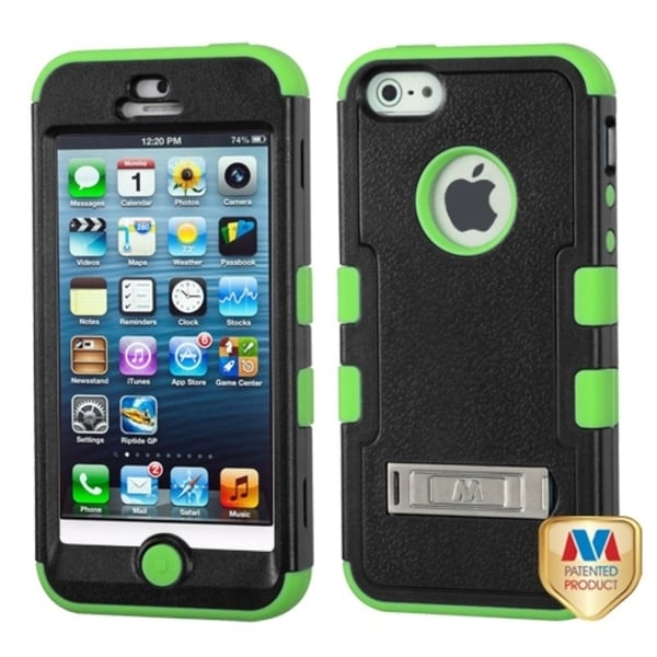 BasAcc Natural Black/ Electric Green TUFF Case for Apple iPhone 5/ 5S