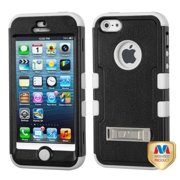 BasAcc Natural Black/ White TUFF Case for Apple iPhone 5/ 5S