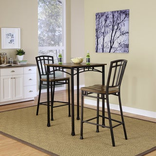 Modern Craftsman 3-piece Bistro Set by Home Styles