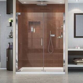 DreamLine Elegance Frameless Pivot Shower Door and SlimLine 30 in. by 60 in. Single Threshold Shower