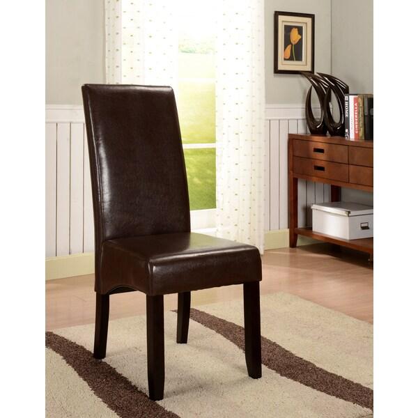 KampB Brown Leatherette Parson Chairs Set of 2 Free  : K B Brown Leatherette Parson Chairs Set of 2 a91a81c9 6602 4d4b 9957 bd8dcfafb4f0600 from www.overstock.com size 600 x 600 jpeg 69kB