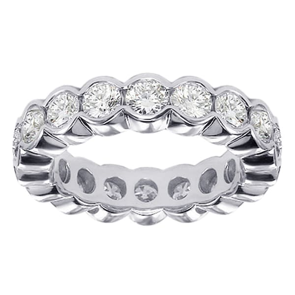 14k/ 18k White Gold 2-2.5ct TDW Contemporary Diamond Band (G-H, SI1-SI2)